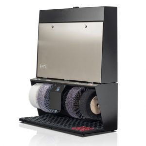 ShoeCare cipőtisztító gép Polifix-4-Super-V2A-gebürstet