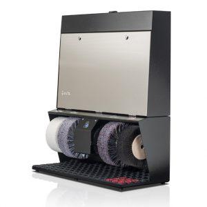 ShoeCare cipőtisztító gép Polifix-4-Super-V2A-geprägt